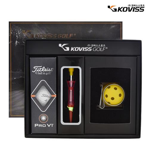 코비스 골프용품선물세트 4A1H3B1T0 골프공 티[선물용]